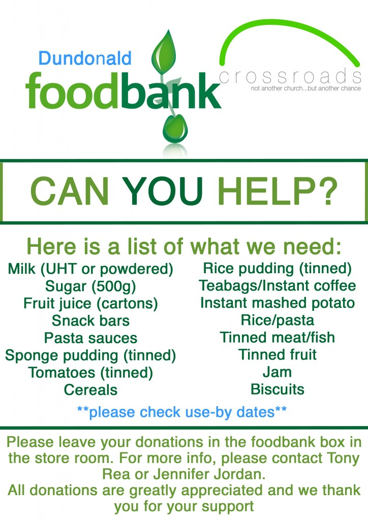 new foodbank poster 2015